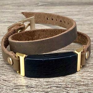 Fitbit Inspire HR Vintage Brown Leather Bracelet